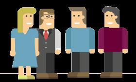 Groepje mensen (begeleidingscommissie of evaluatiegesprek)